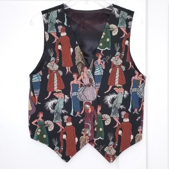 Vintage Jackets & Blazers - Vintage 90s Roaring 20s Flapper Vest